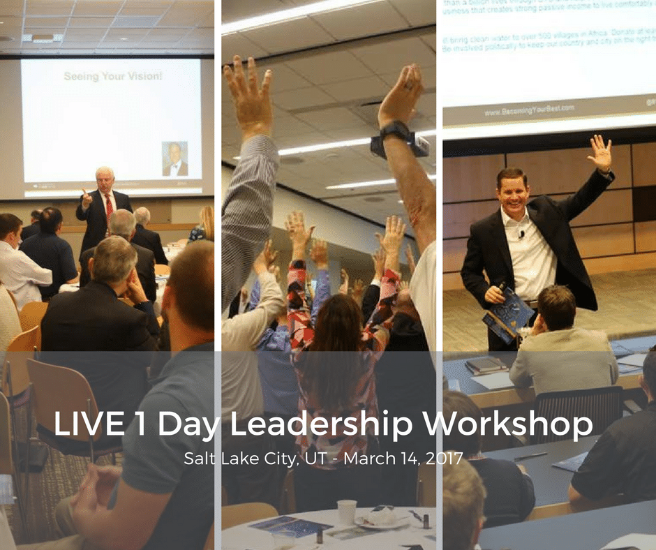 LIVE 1 Day Leadership Workshop in Salt Lake City on March 14